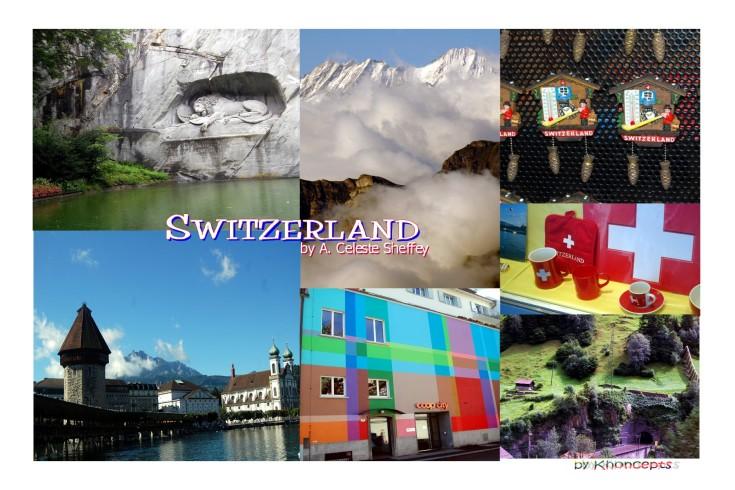 Switzerland Collage by A. Celeste Sheffey of Khoncepts.com