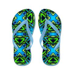 blue_and_green_stained_glass_flip_flops