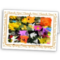 Unisex Thank you floral note cards and gift items