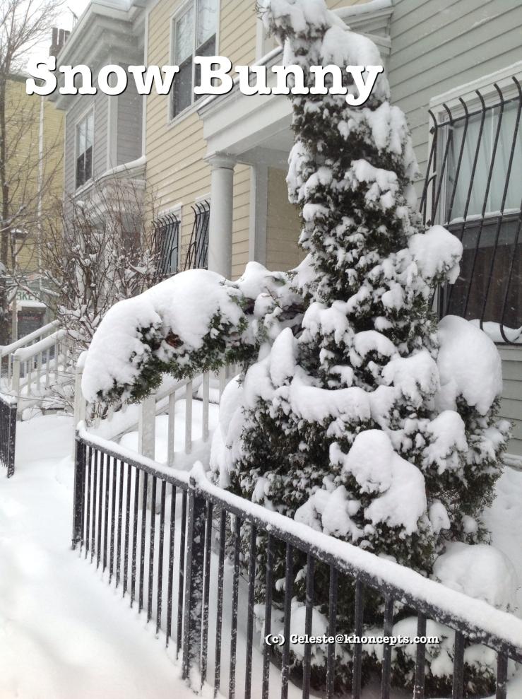 Snow bunny tree