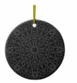 Black Snowflake ornament