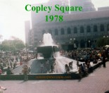old water fountain in Copley Square, Boston MA.