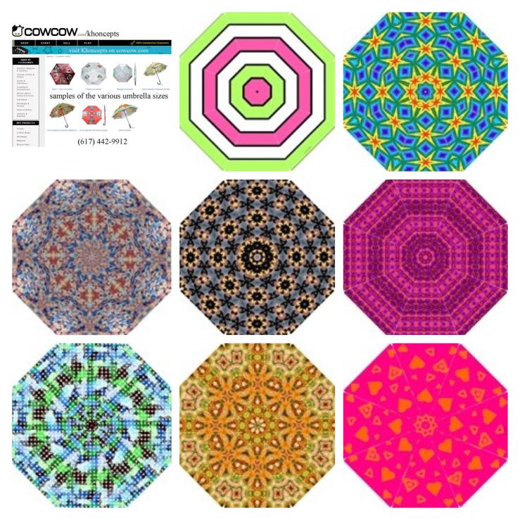 Umbrellas designed by Celeste Sheffey