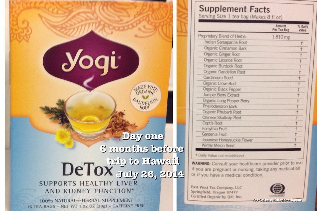 detox tea with herbs