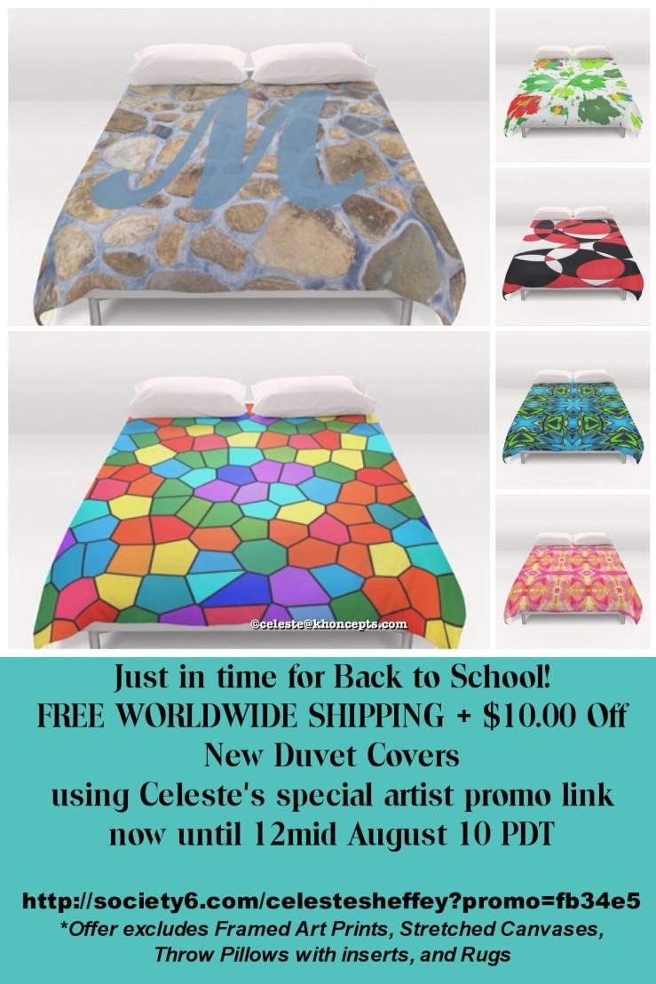 Celeste Sheffey's Artist Promo  Duvet Sale Promo Link!