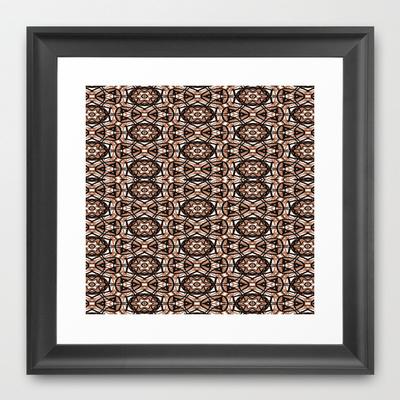 Brown, white and black spiral mandala #2778.