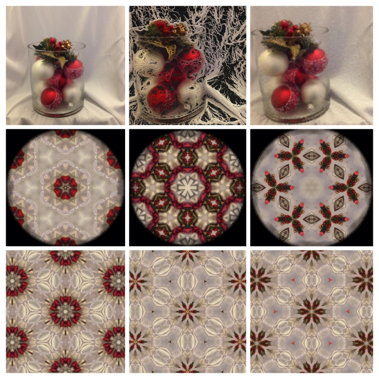Beautiful red and white Christmas ornaments