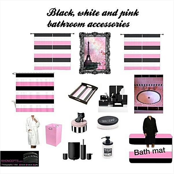 Black, white and pink stripes for him and her