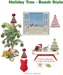 Holiday Christmas Tree Beach Style