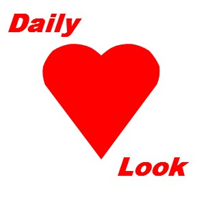 Daily Look Red Heart and red text by celeste@khoncepts.com