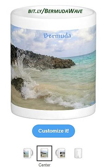 Bermuda Wave Customized Coffee Mug.