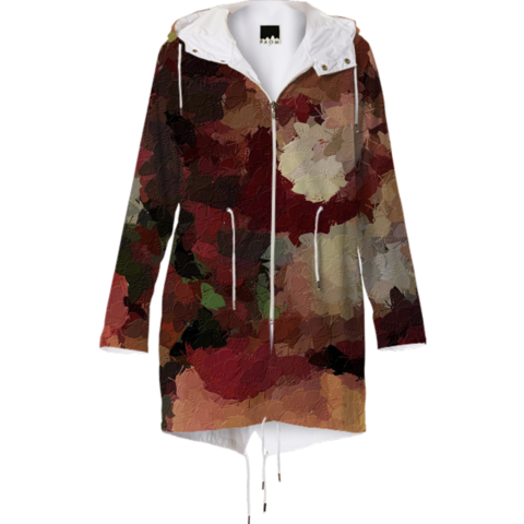 Gorgeous autumn colored raincoat