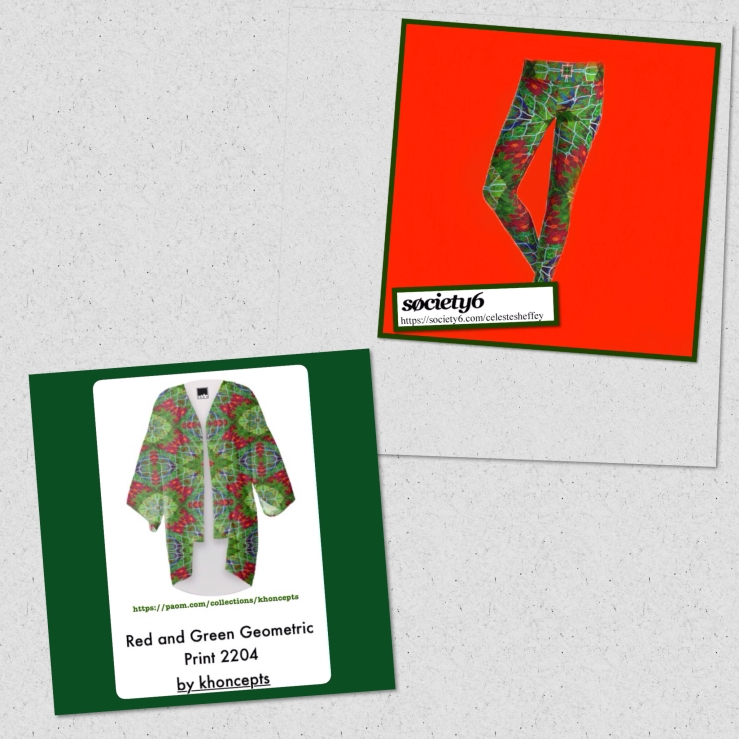 Red and Green Holiday Fashion wear