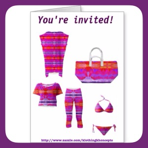 Girls weekend away invitation design