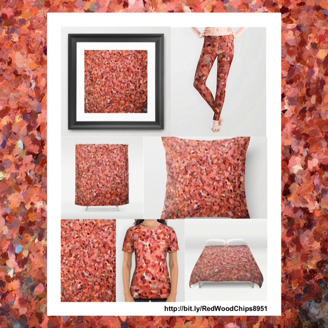 Red Wood Chips 8951 Graphic Art