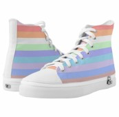 Rainbow Stripes of Pastel Colors Sneakers