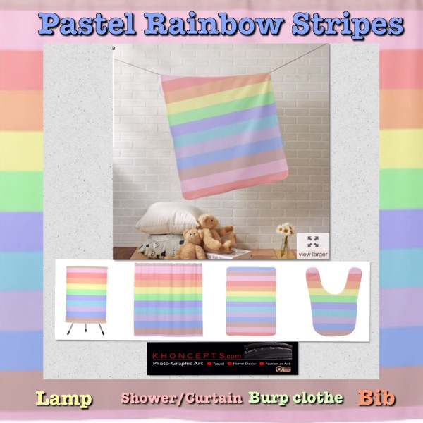 Beautifully soft pastel rainbow colored baby gift ideas.