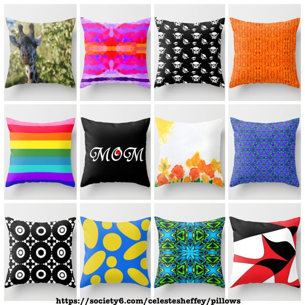 Stylishly fun toss pillows