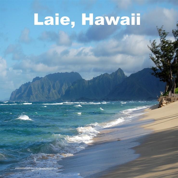 Laie Beach in Hawaii