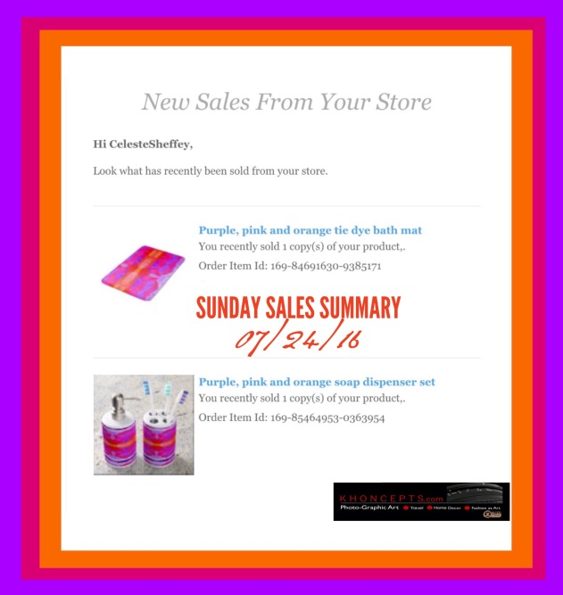 Hot pink neon purple and orange tie dye home decor bathroom accessories very reminiscent of the 60's.