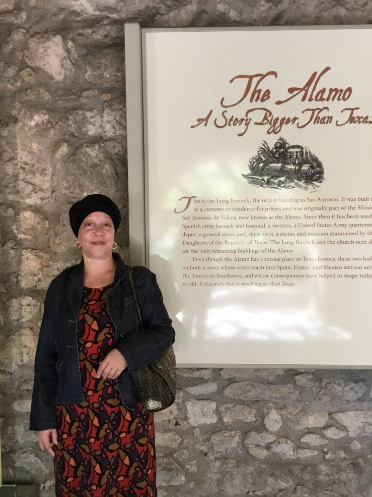 Visiting The Alamo during my first visit to Texas