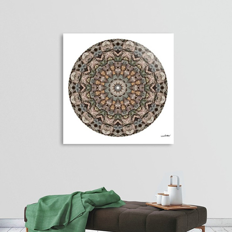 Rock Art Mandala 9812 with brown settee
