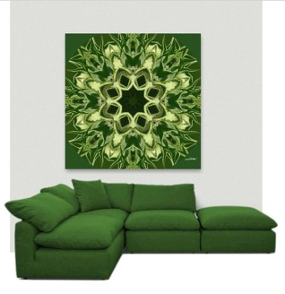 Acrylic Glass Wall Art - Greenery