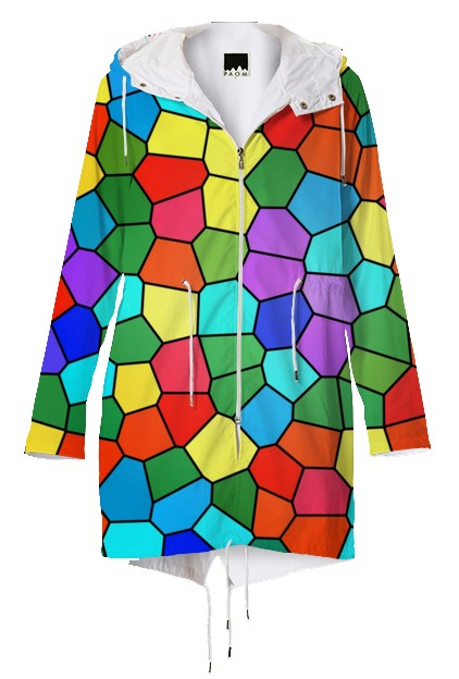 rainbow mosaics raincoat