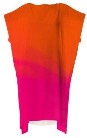 all occasion dark orange and hot pink dress