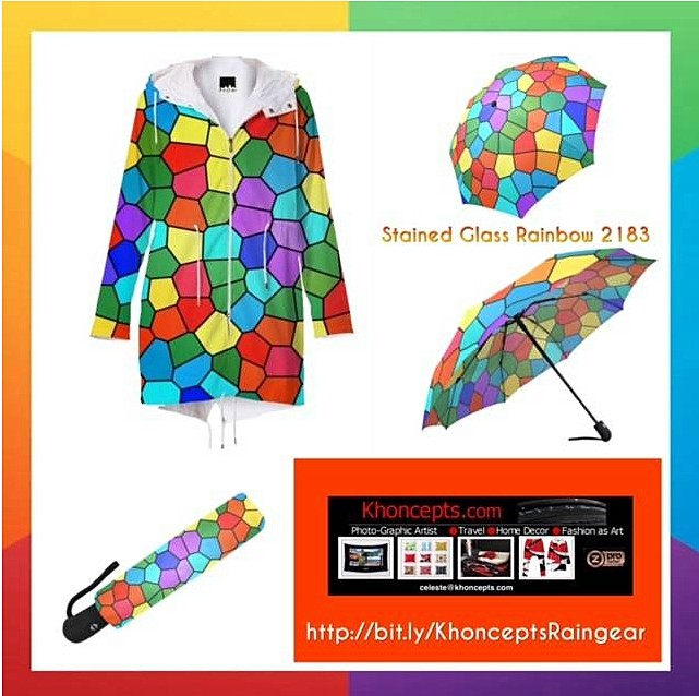 Bright rainbow graphic art fashionwear