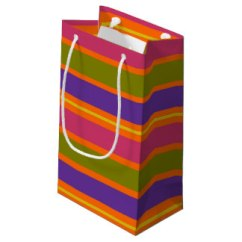 African Inspired Orange, Yellow, Red, Green and Yellow stripes gift bag