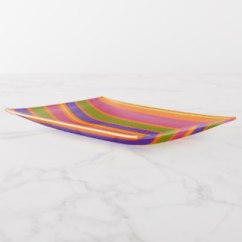 African Inspired Orange, Yellow, Red, Green and Yellow stripes trinket tray
