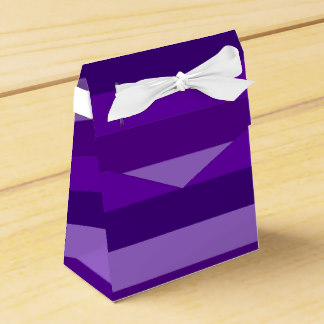 Shades of Purple Stripes favor box