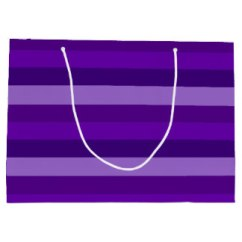 Shades of Purple Stripes gift bag