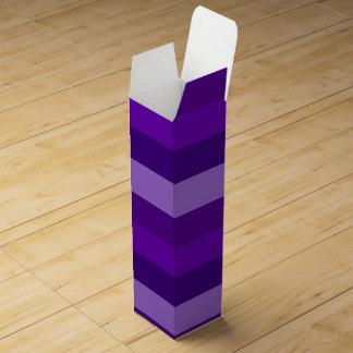 Shades of Purple Stripes wine box