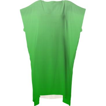 Gradient Green Ladies Square Dress