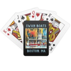 Boston Swan Boats Art Deco playing cards