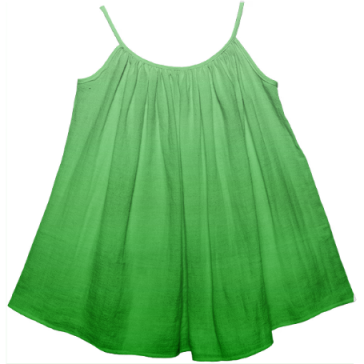 Gradient Green Girl's Tent Dress
