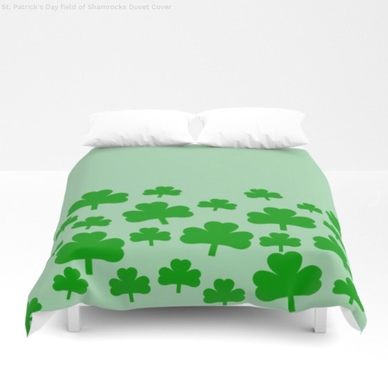 Field of Shamrocks Duvet