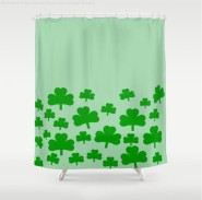 Field of Shamrocks Shower Curtain
