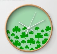 Field of Shamrocks Wall Clock