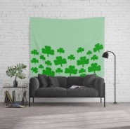 Field of Shamrocks Wall Tapestry