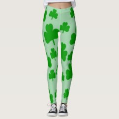 Field of Shamrocks leggings