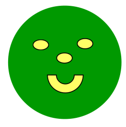 Green smiley face