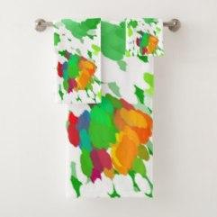 Watercolor Pop Art bath towels