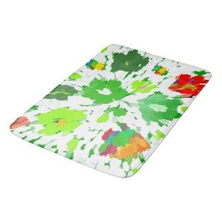 Watercolor Pop Art bath mat