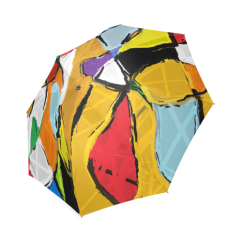 Yellow Abstract Art 8195 Umbrella