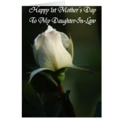 Exquisitely perfect white tulip Mother's Day Card