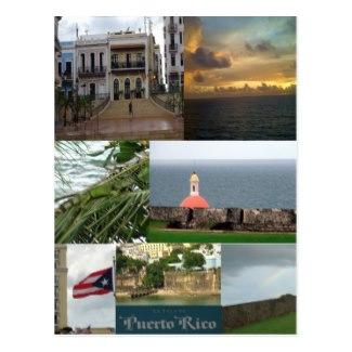 Memorable postcard photo collage of San Juan, Puerto Rico