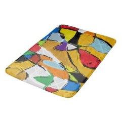 Yellow Abstract Art 8195 bath mat